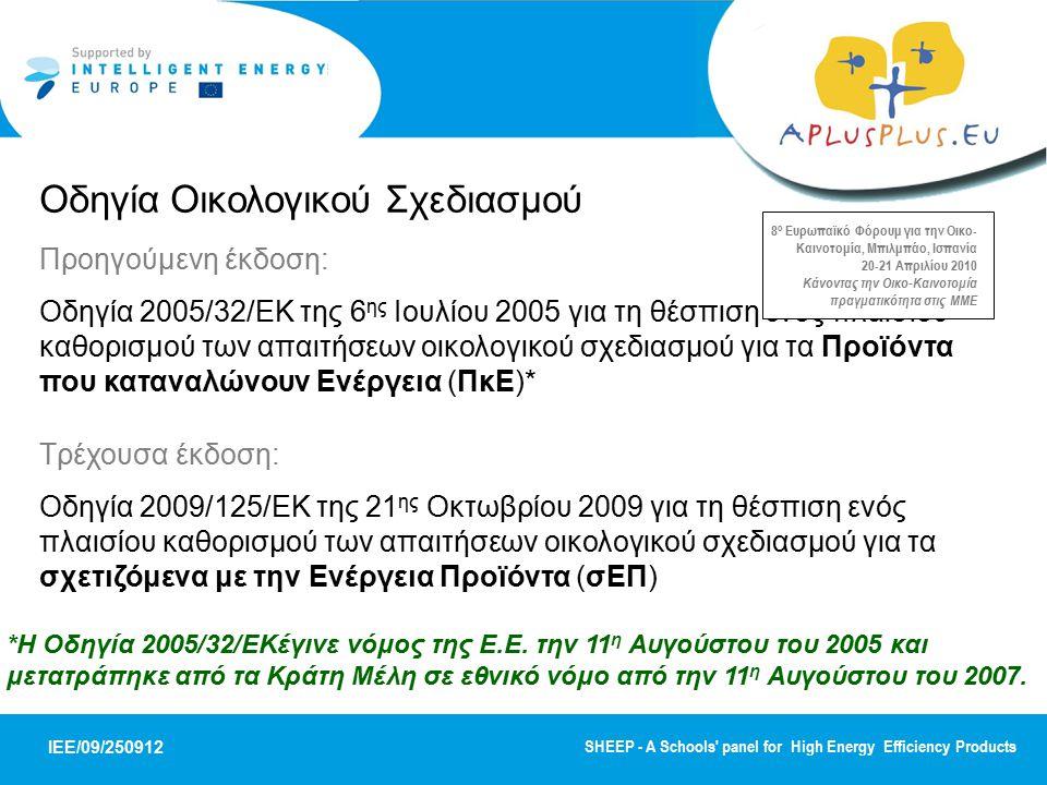 Οδηγία Οικολογικού Σχεδιασμού