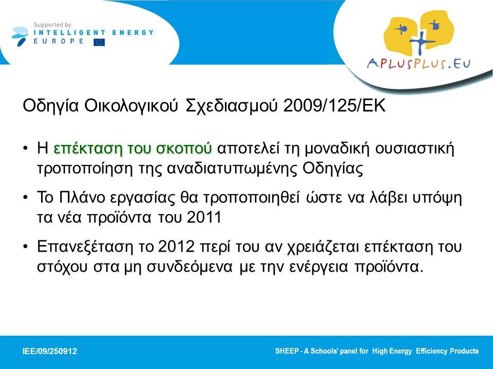 Οδηγία Οικολογικού Σχεδιασμού 2009/125/ΕΚ