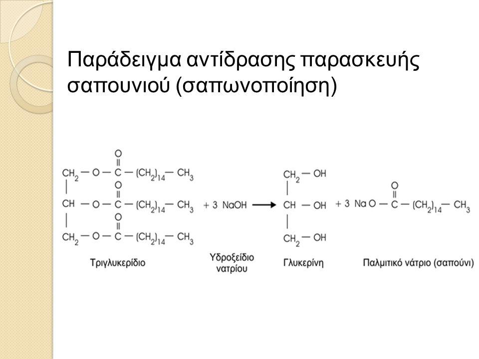 Παράδειγμα αντίδρασης παρασκευής σαπουνιού (σαπωνοποίηση)