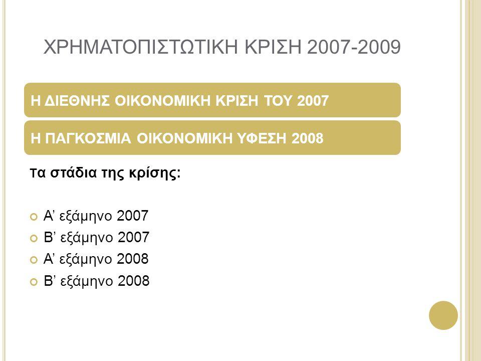 ΧΡΗΜΑΤΟΠΙΣΤΩΤΙΚΗ ΚΡΙΣΗ 2007-2009