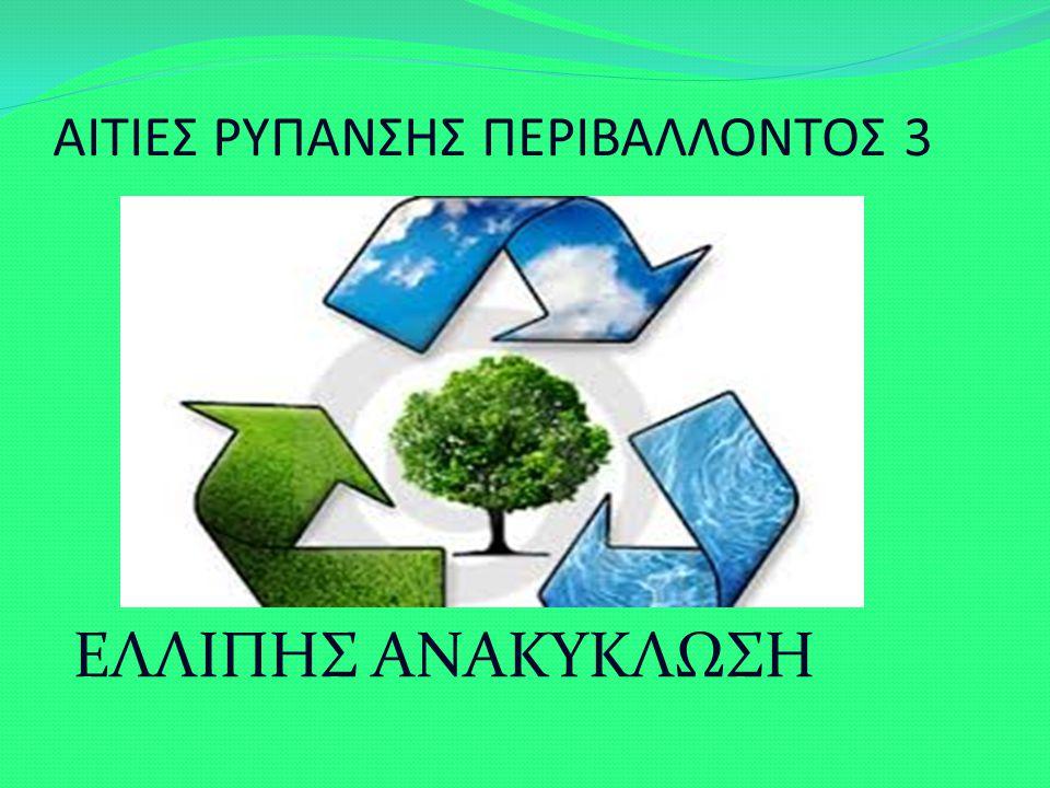ΑΙΤΙΕΣ ΡΥΠΑΝΣΗΣ ΠΕΡΙΒΑΛΛΟΝΤΟΣ 3