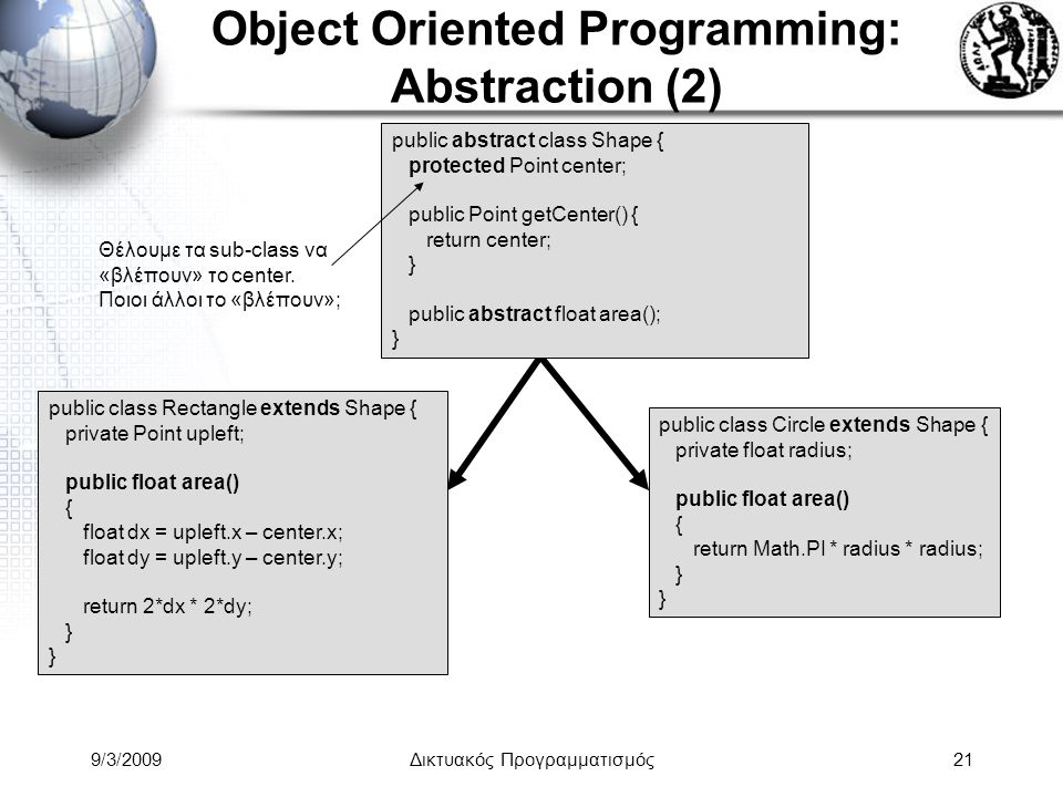 Object Oriented Programming: Abstraction (2)