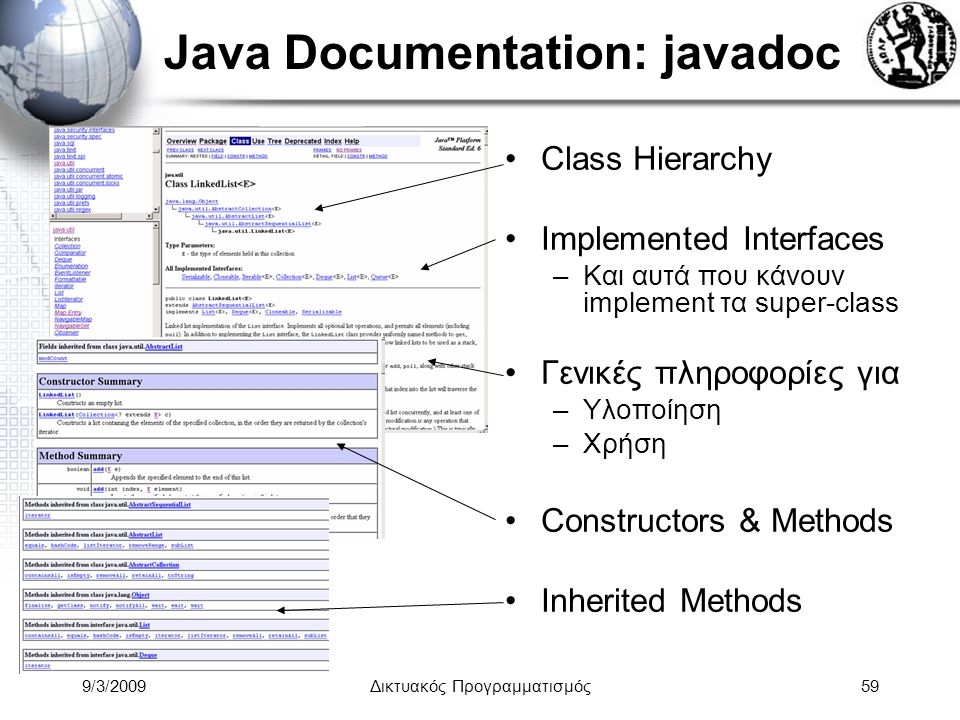 Java Documentation: javadoc