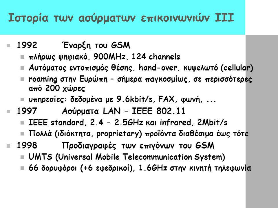 Ιστορία των ασύρματων επικοινωνιών III