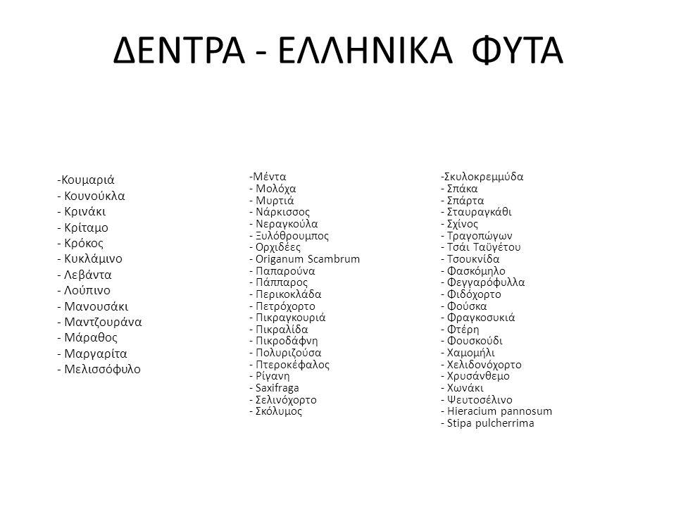 ΔΕΝΤΡΑ - ΕΛΛΗΝΙΚΑ ΦΥΤΑ
