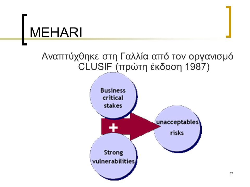 Αναπτύχθηκε στη Γαλλία από τον οργανισμό CLUSIF (πρώτη έκδοση 1987)