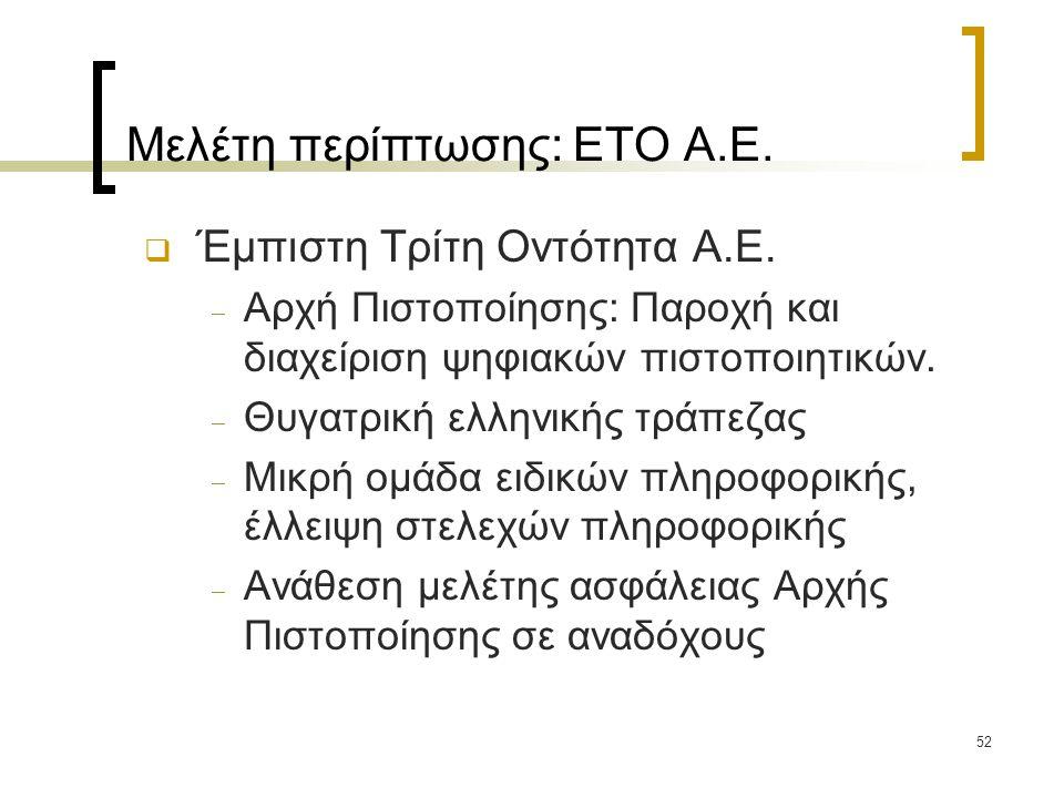 Μελέτη περίπτωσης: ΕΤΟ Α.Ε.