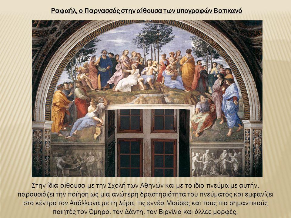 Ραφαήλ, ο Παρνασσός στην αίθουσα των υπογραφών Βατικανό