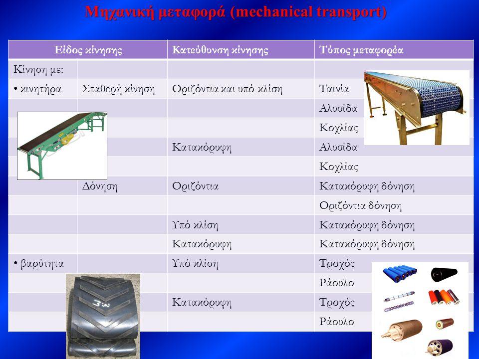 Μηχανική μεταφορά (mechanical transport)