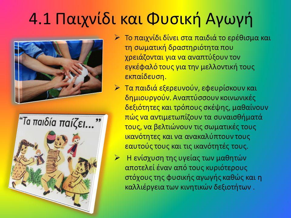 4.1 Παιχνίδι και Φυσική Αγωγή