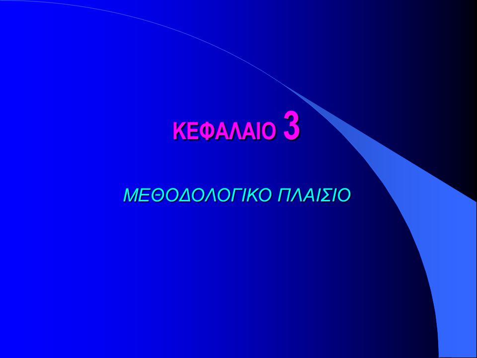 ΚΕΦΑΛΑΙΟ 3 ΜΕΘΟΔΟΛΟΓΙΚΟ ΠΛΑΙΣΙΟ