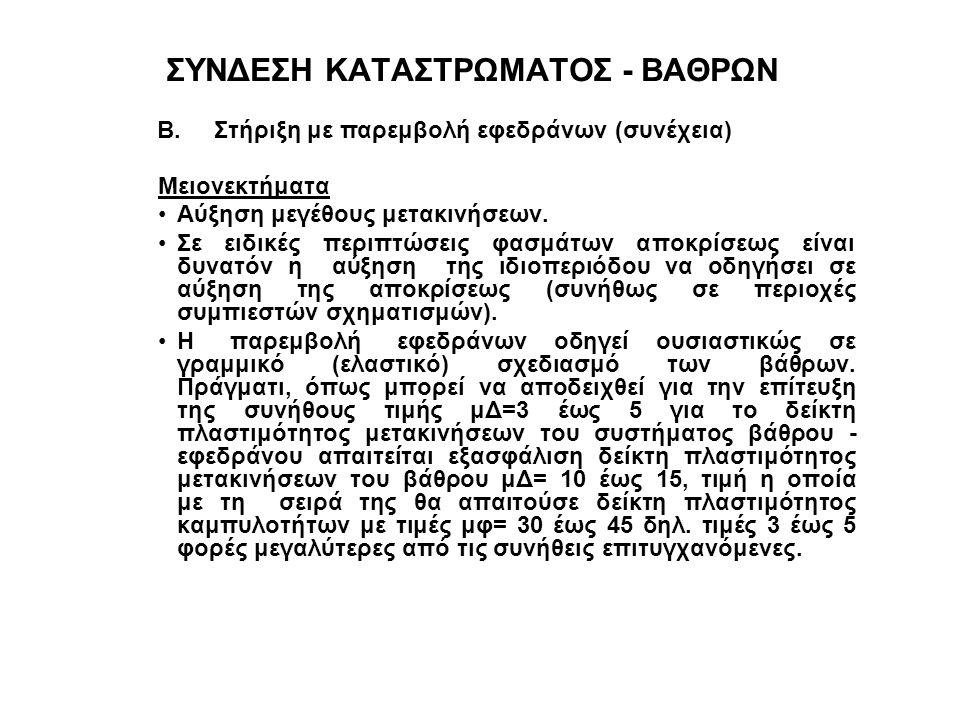 ΣΥΝΔΕΣΗ ΚΑΤΑΣΤΡΩΜΑΤΟΣ - ΒΑΘΡΩΝ