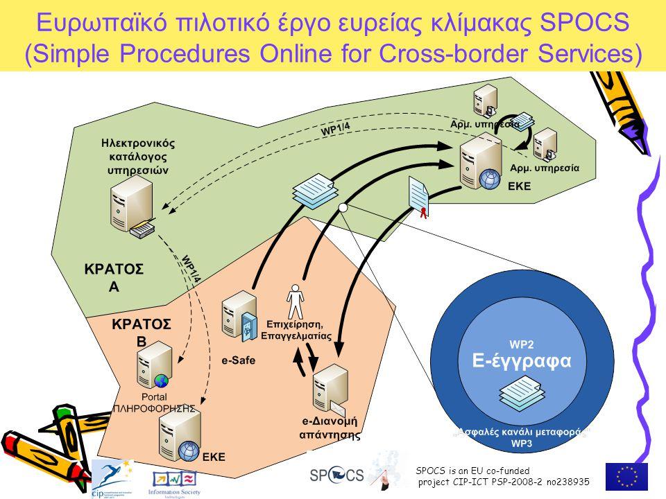Ευρωπαϊκό πιλοτικό έργο ευρείας κλίμακας SPOCS (Simple Procedures Online for Cross-border Services)