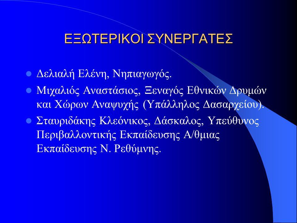 ΕΞΩΤΕΡΙΚΟΙ ΣΥΝΕΡΓΑΤΕΣ