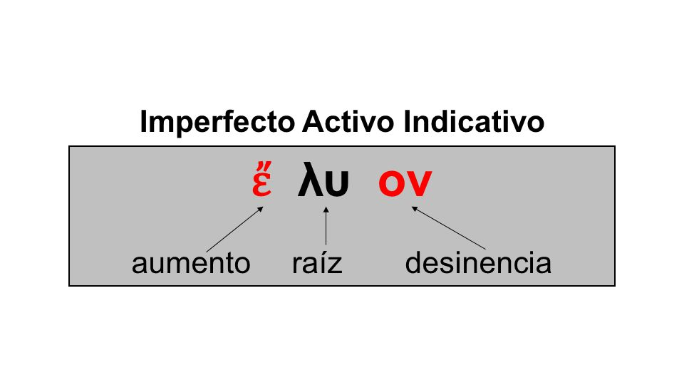 Imperfecto Activo Indicativo