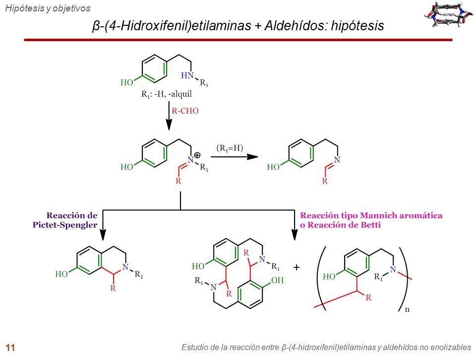 β-(4-Hidroxifenil)etilaminas + Aldehídos: hipótesis