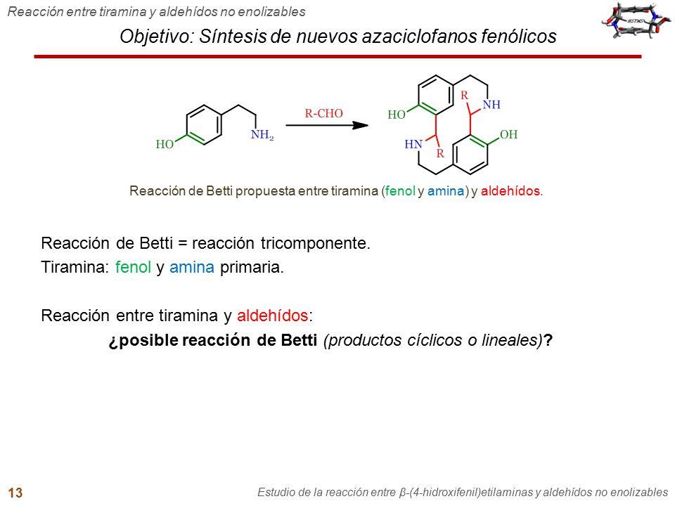 Objetivo: Síntesis de nuevos azaciclofanos fenólicos