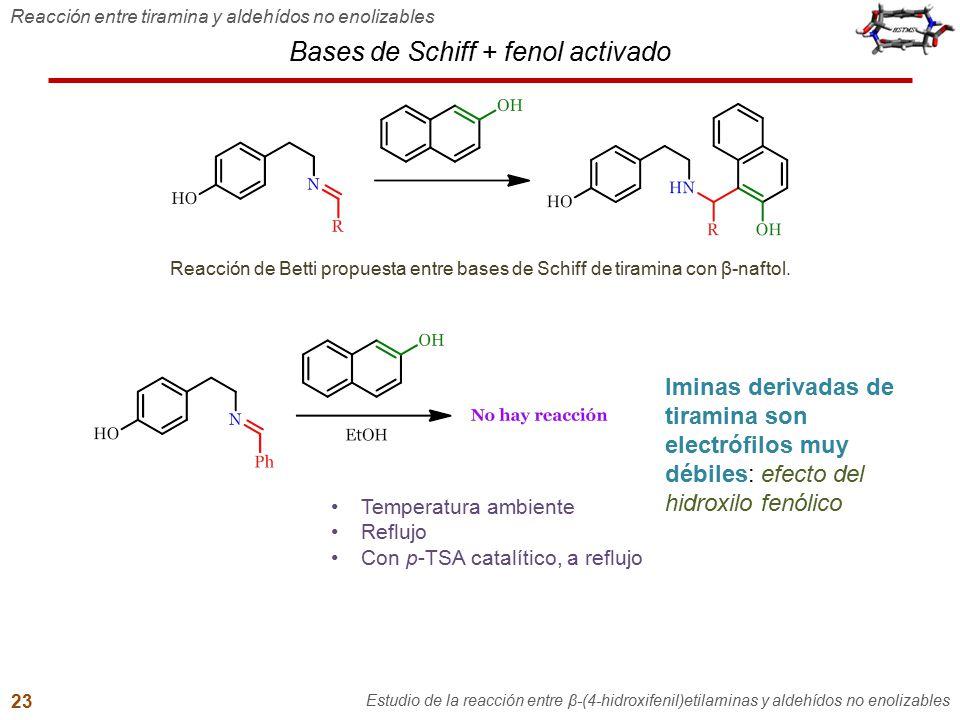 Bases de Schiff + fenol activado