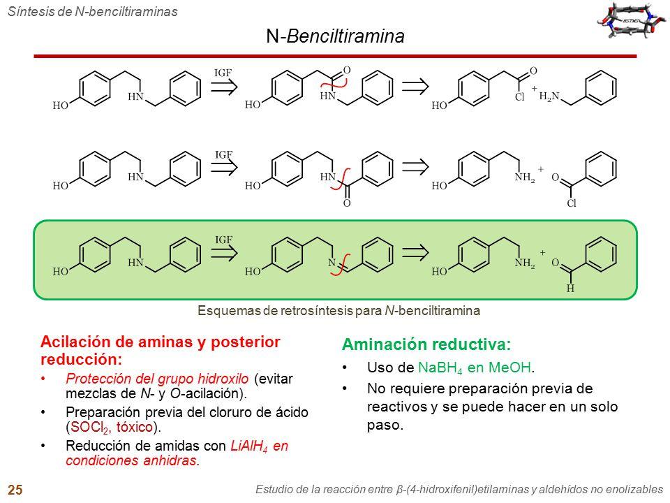 Esquemas de retrosíntesis para N-benciltiramina