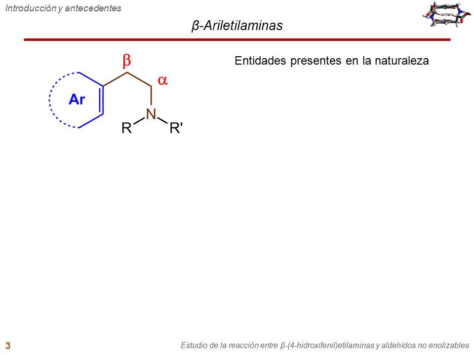 β-Ariletilaminas Entidades presentes en la naturaleza