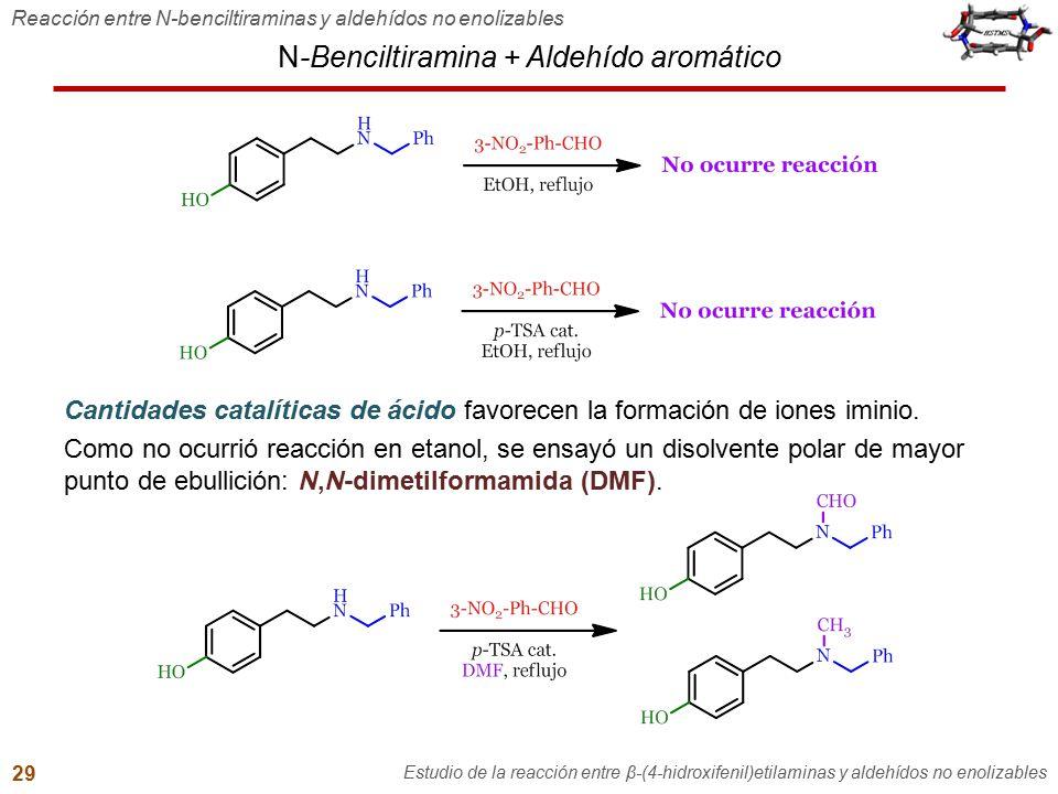 N-Benciltiramina + Aldehído aromático