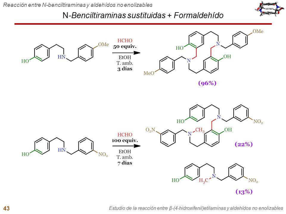 N-Benciltiraminas sustituidas + Formaldehído