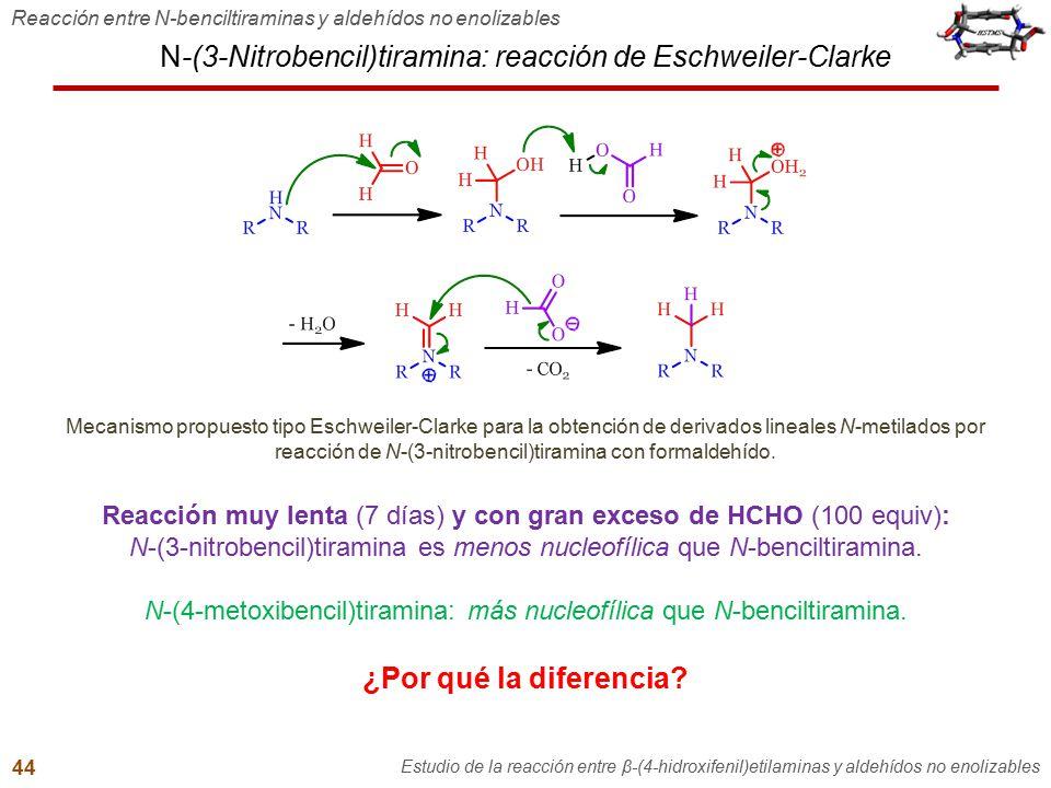 N-(3-Nitrobencil)tiramina: reacción de Eschweiler-Clarke