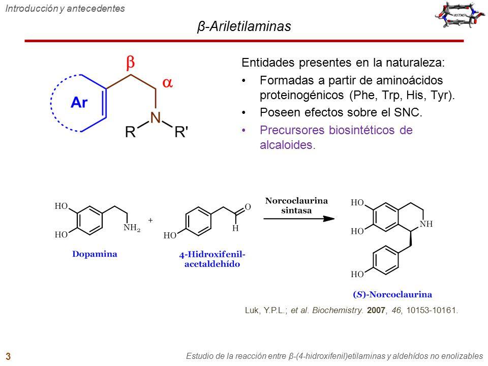 β-Ariletilaminas Entidades presentes en la naturaleza: