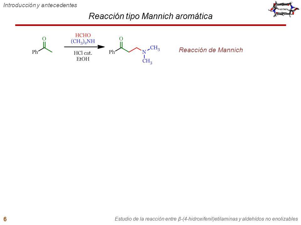 Reacción tipo Mannich aromática