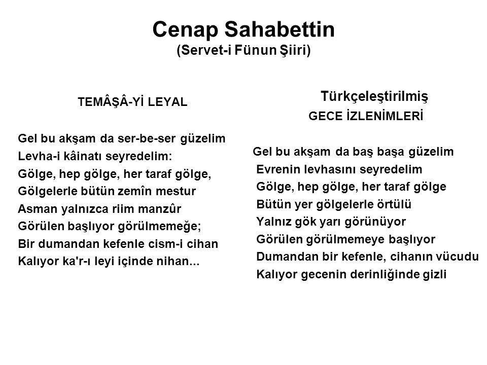 Cenap Sahabettin (Servet-i Fünun Şiiri)