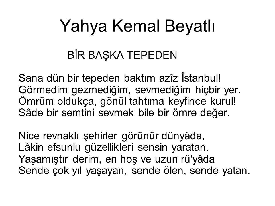 Yahya Kemal Beyatlı
