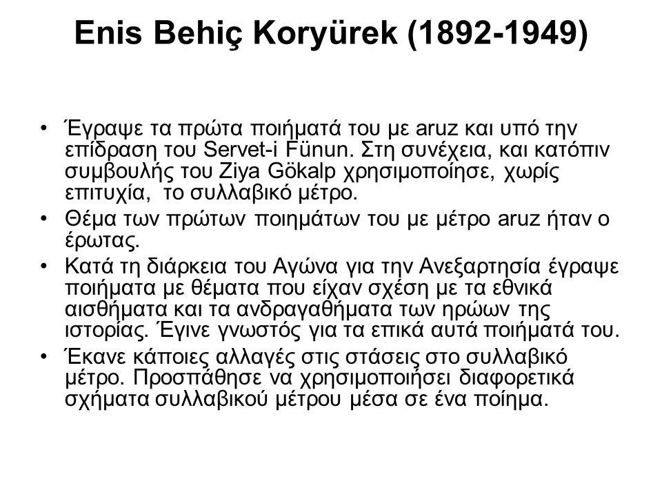 Enis Behiç Koryürek (1892-1949)