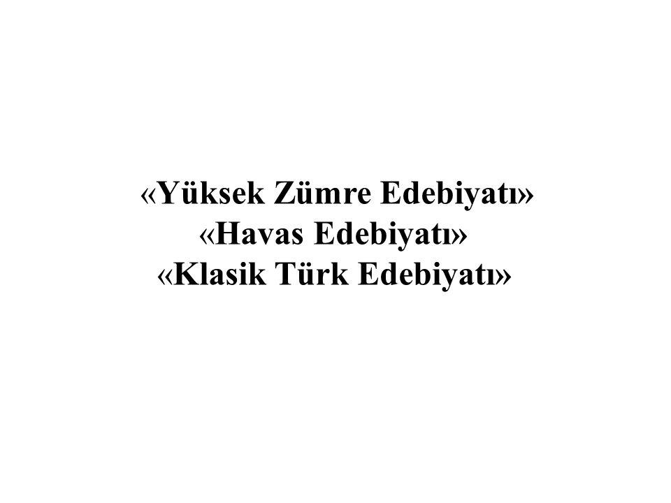 «Yüksek Zümre Edebiyatı»