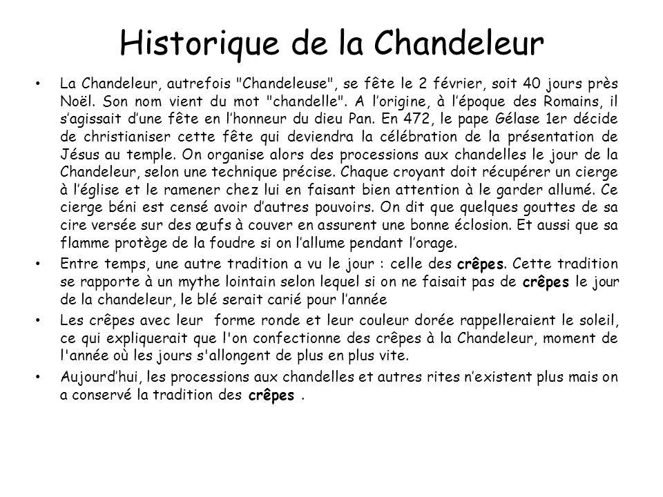 Historique de la Chandeleur