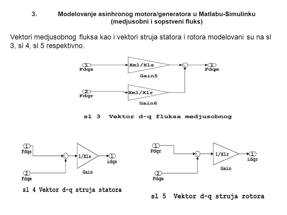 Modelovanje asinhronog motora/generatora u Matlabu-Simulinku (medjusobni i sopstveni fluks)