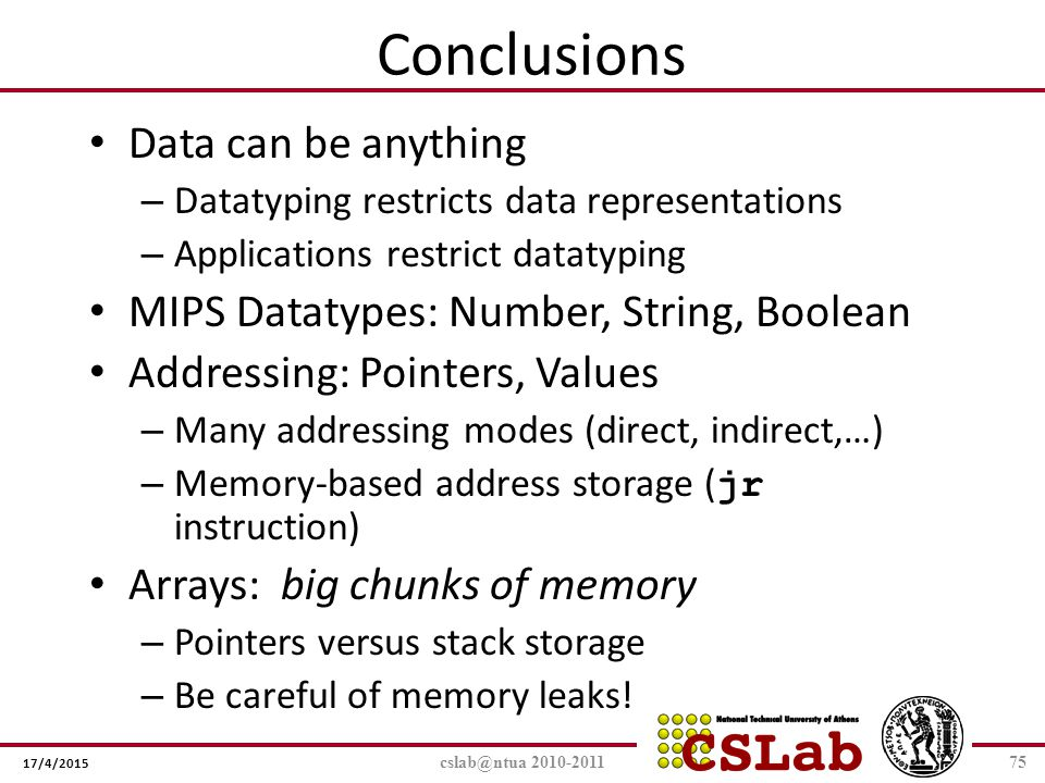 Conclusions Data can be anything