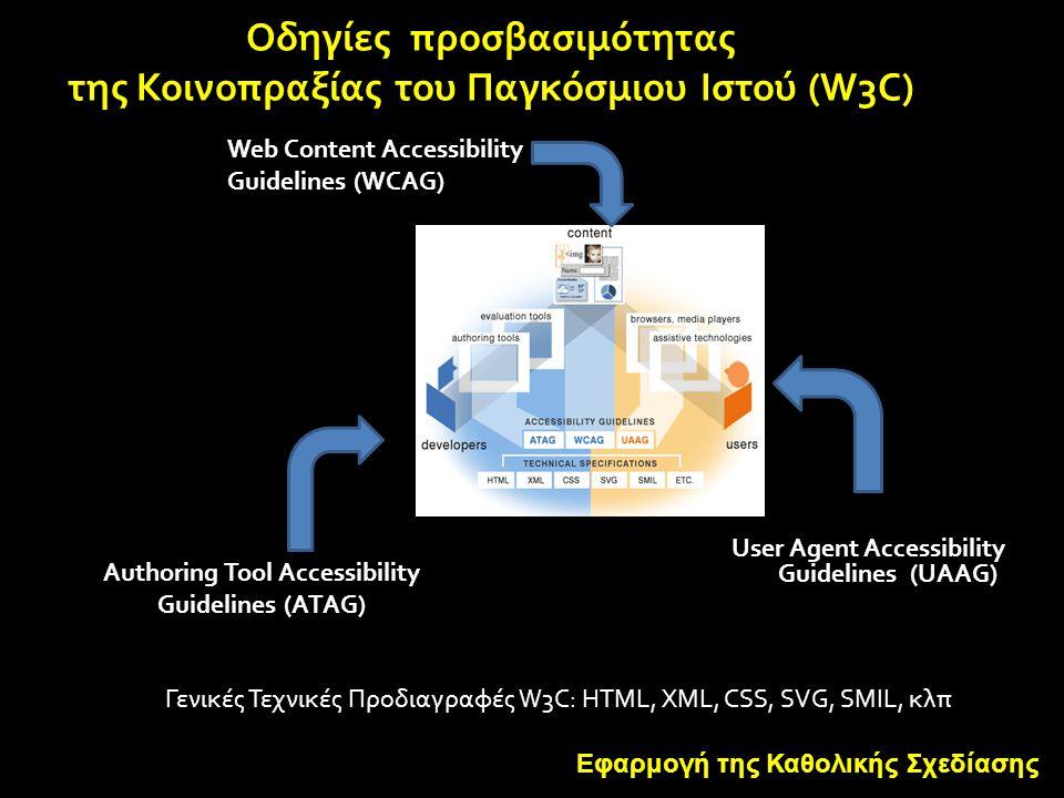 Οδηγίες προσβασιμότητας της Κοινοπραξίας του Παγκόσμιου Ιστού (W3C)