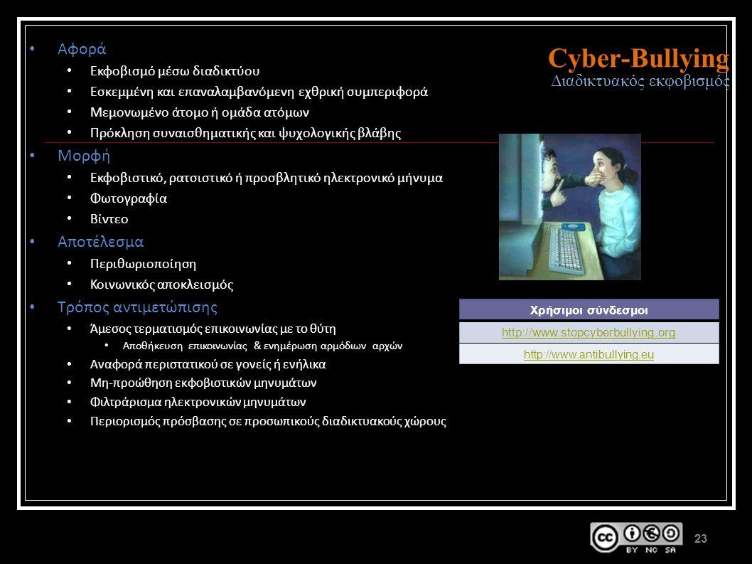 Cyber-Bullying Διαδικτυακός εκφοβισμός