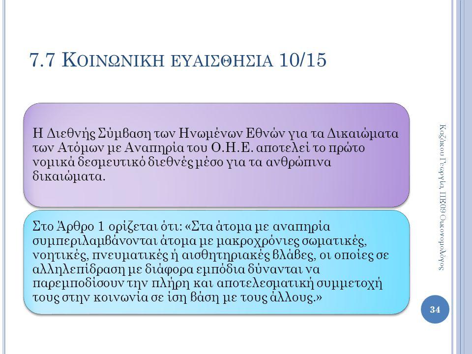 7.7 Κοινωνικη ευαισθησια 10/15