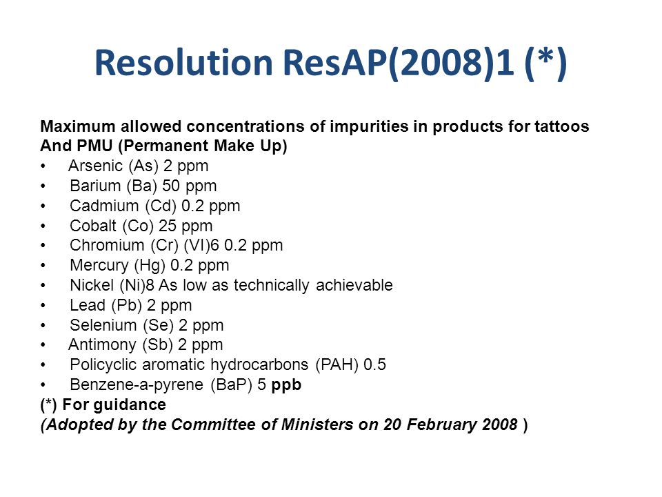 Resolution ResAP(2008)1 (*)