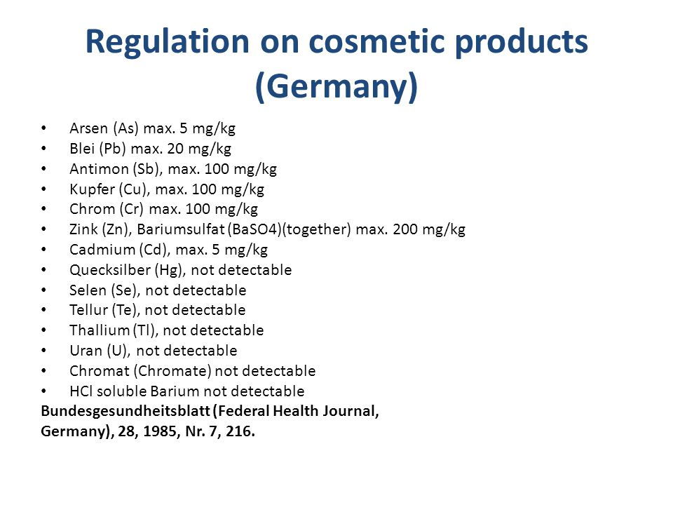 Regulation on cosmetic products (Germany)