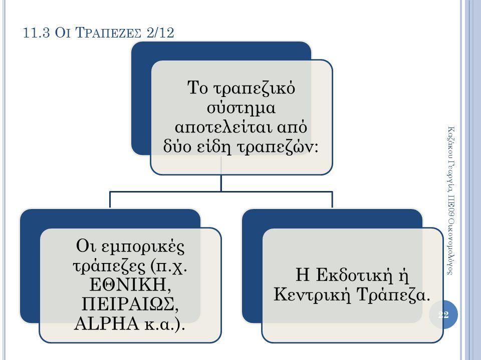 11.3 Οι Τραπεζεσ 2/12 Καζάκου Γεωργία, ΠΕ09 Οικονομολόγος