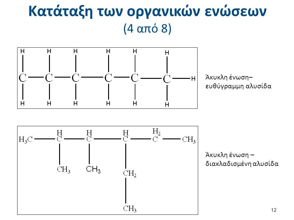 Κατάταξη των οργανικών ενώσεων (5 από 8)
