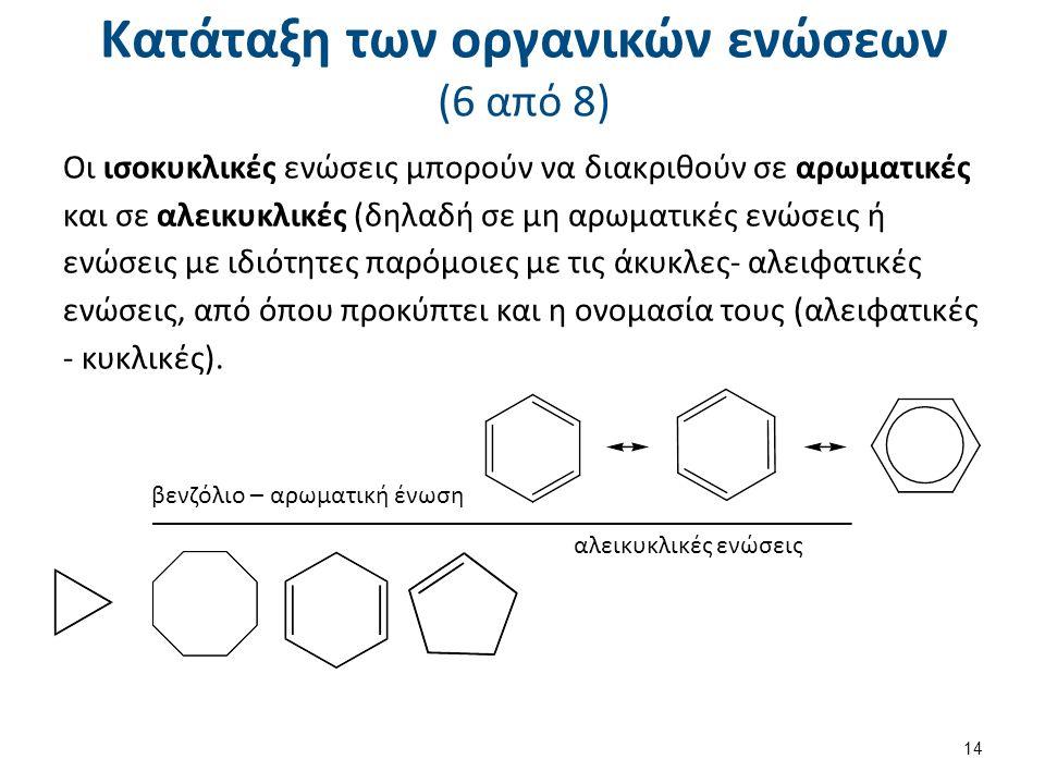 Κατάταξη των οργανικών ενώσεων (7 από 8)