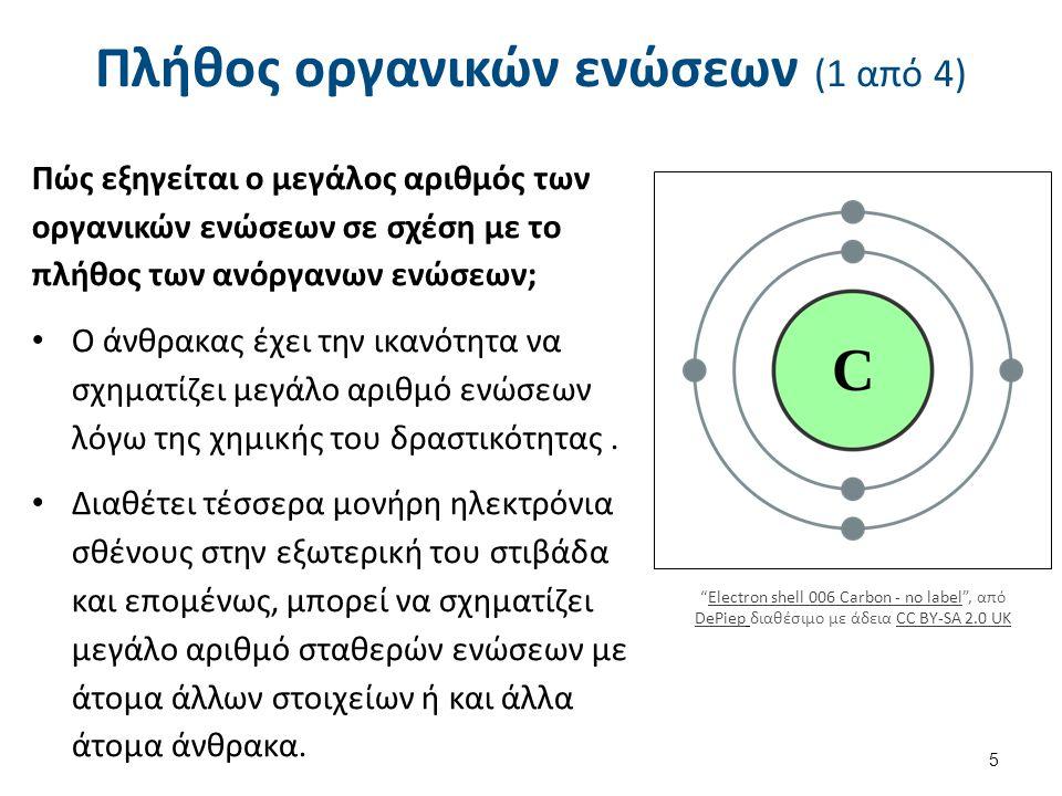 Πλήθος οργανικών ενώσεων (2 από 4)