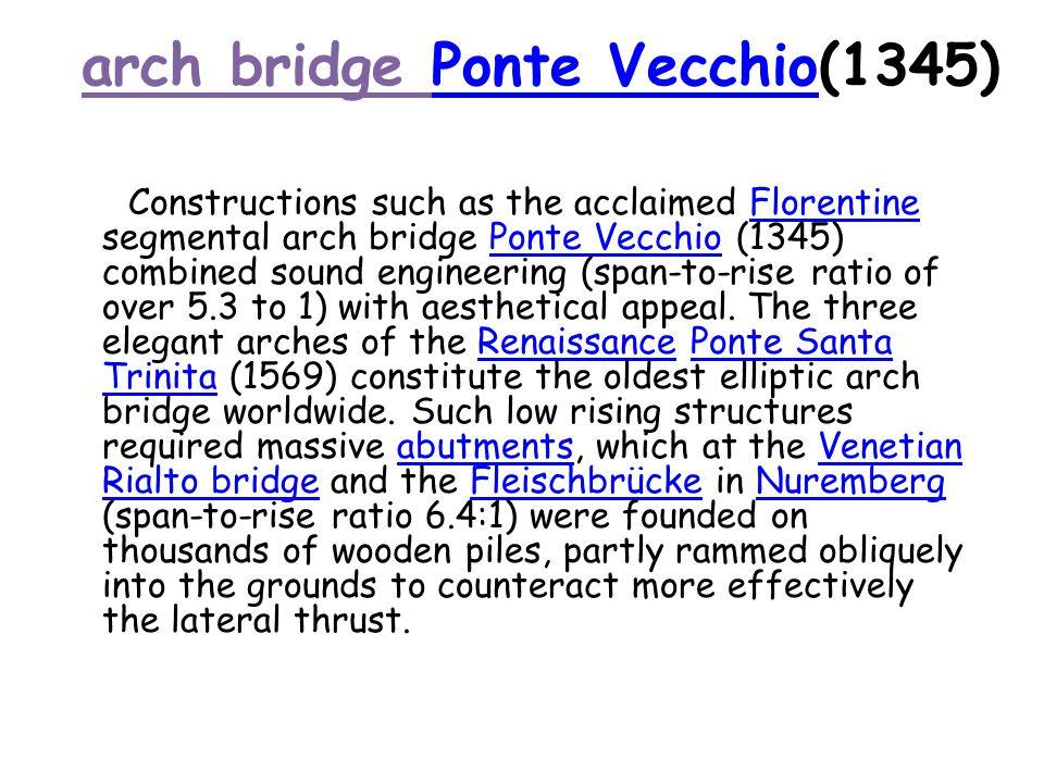 arch bridge Ponte Vecchio(1345)