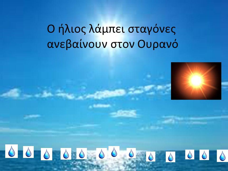 Ο ήλιος λάμπει σταγόνες