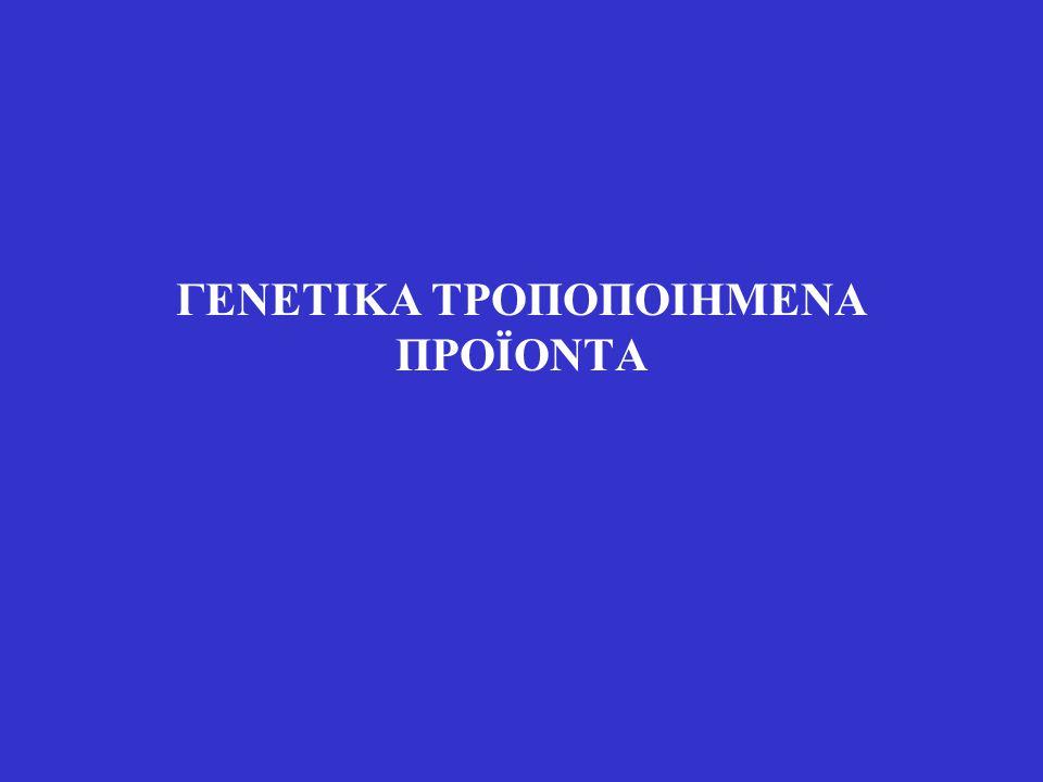 ΓΕΝΕΤΙΚΑ ΤΡΟΠΟΠΟΙΗΜΕΝΑ ΠΡΟΪΟΝΤΑ