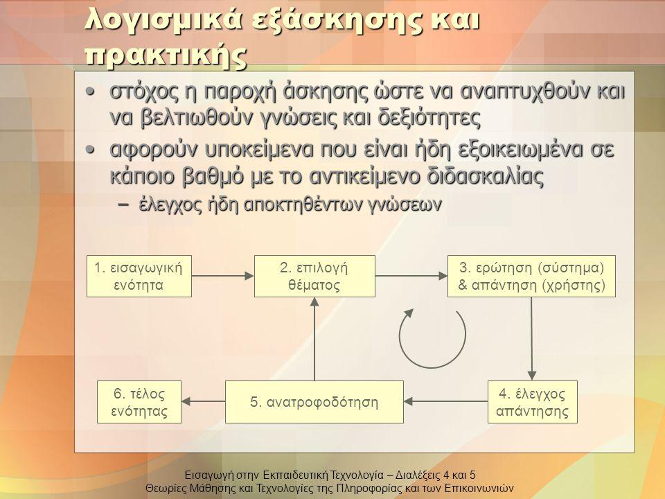 λογισμικά εξάσκησης και πρακτικής