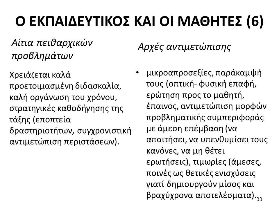 Ο ΕΚΠΑΙΔΕΥΤΙΚΟΣ ΚΑΙ ΟΙ ΜΑΘΗΤΕΣ (6)